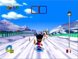 In game image of Chou Snobow Kids on the Nintendo N64.