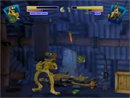 In game image of Clay Fighter: Sculptor's Cut on the Nintendo N64.