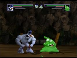 In game image of Clay Fighter 63 1/3 on the Nintendo N64.