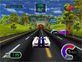 In game image of Cruis'n Exotica on the Nintendo N64.