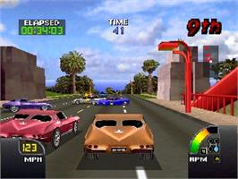 In game image of Cruis'n USA on the Nintendo N64.