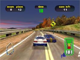 In game image of Destruction Derby 64 on the Nintendo N64.