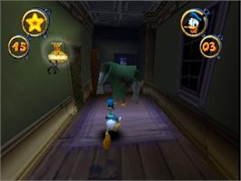 In game image of Donald Duck: Quack Attack on the Nintendo N64.