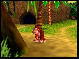 In game image of Donkey Kong 64 on the Nintendo N64.