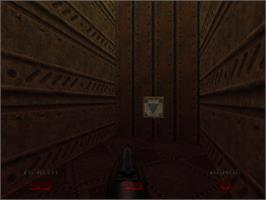 In game image of Doom 64 on the Nintendo N64.