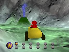 In game image of Elmo's Letter Adventure on the Nintendo N64.