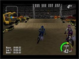 In game image of Excite Bike 64 on the Nintendo N64.