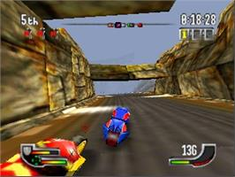 In game image of Extreme G on the Nintendo N64.