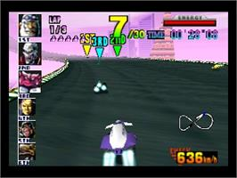In game image of F-Zero X on the Nintendo N64.