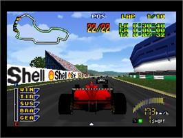 In game image of F1 Pole Position 64 on the Nintendo N64.