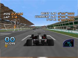 In game image of F1 Racing Championship on the Nintendo N64.