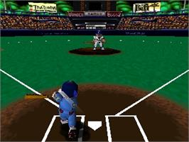 In game image of Famista 64 on the Nintendo N64.