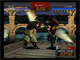 In game image of Fighting Cup on the Nintendo N64.