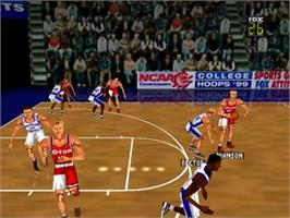 In game image of Fox Sports College Hoops '99 on the Nintendo N64.