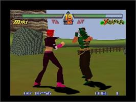 In game image of G.A.S.P!! Fighter's NEXTream on the Nintendo N64.