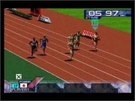 In game image of Ganbare! Nippon! Olympics 2000 on the Nintendo N64.