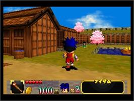 In game image of Ganbare Goemon: Neo Momoyama Bakufu no Odori on the Nintendo N64.