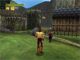 In game image of Hercules: The Legendary Journeys on the Nintendo N64.