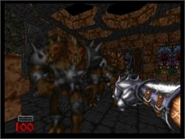 In game image of Hexen on the Nintendo N64.