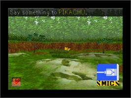 In game image of Hey You, Pikachu on the Nintendo N64.