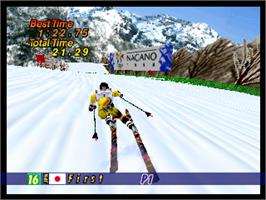 In game image of Hyper Olympics: Nagano 64 on the Nintendo N64.