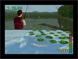 In game image of In-Fisherman Bass Hunter 64 on the Nintendo N64.