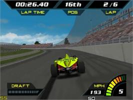 In game image of Indy Racing 2000 on the Nintendo N64.