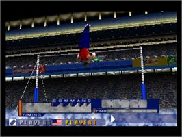 In game image of International Track & Field 2000 on the Nintendo N64.