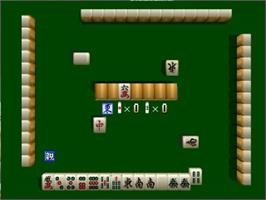 In game image of Jangou Simulation Mahjong Do 64 on the Nintendo N64.