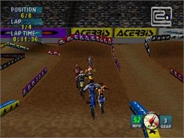 In game image of Jeremy McGrath Supercross 2000 on the Nintendo N64.
