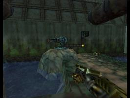 In game image of John Romero's Daikatana on the Nintendo N64.