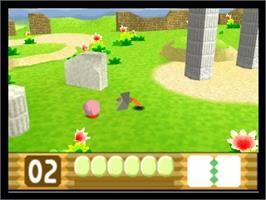 In game image of Kirby 64: The Crystal Shards on the Nintendo N64.