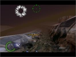 In game image of Knife Edge: Nose Gunner on the Nintendo N64.