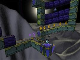 In game image of Lode Runner 3D on the Nintendo N64.