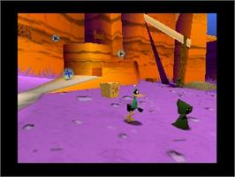 In game image of Looney Tunes: Duck Dodgers Starring Daffy Duck on the Nintendo N64.