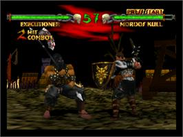 In game image of Mace: The Dark Age on the Nintendo N64.