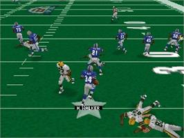 In game image of Madden Football 64 on the Nintendo N64.