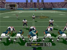 In game image of Madden NFL '99 on the Nintendo N64.