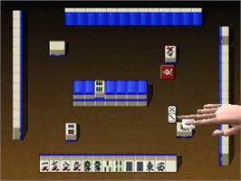 In game image of Mahjong 64 on the Nintendo N64.