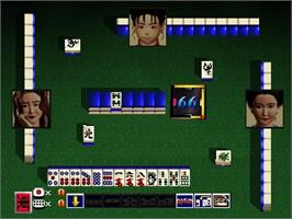 In game image of Mahjong Master on the Nintendo N64.