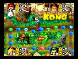 In game image of Mario Party on the Nintendo N64.