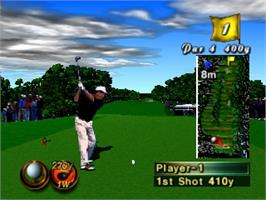 In game image of Masters '98: Haruka Naru Augusta on the Nintendo N64.