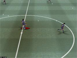 In game image of Mia Hamm Soccer 64 on the Nintendo N64.