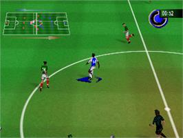 In game image of Michael Owen's World League Soccer 2000 on the Nintendo N64.