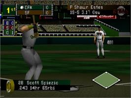 In game image of Mike Piazza's StrikeZone on the Nintendo N64.