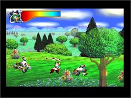 In game image of Mischief Makers on the Nintendo N64.