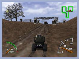 In game image of Monster Truck Madness 64 on the Nintendo N64.