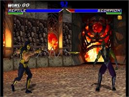 In game image of Mortal Kombat 4 on the Nintendo N64.