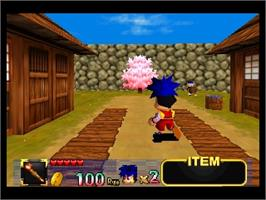 In game image of Mystical Ninja Starring Goemon on the Nintendo N64.
