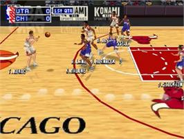 In game image of NBA: In the Zone '99 on the Nintendo N64.